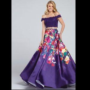 Ellie Wilde watercolor print Ballgown skirt size 6